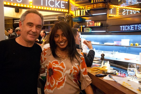 with Ferran Adria at Tickets