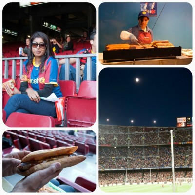 hot dogs & more at camp nou