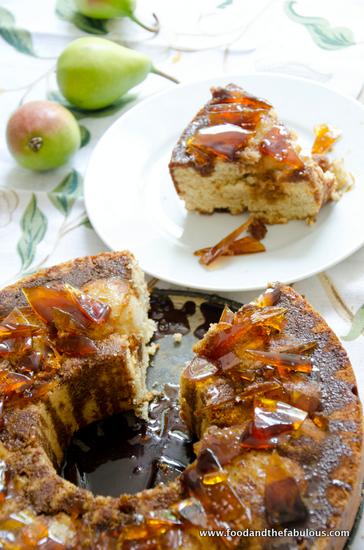 recipe: pear cake with caramel sauce [28]