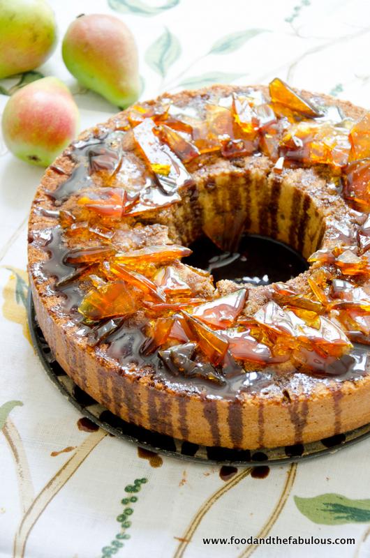 recipe: pear cake with caramel sauce [32]