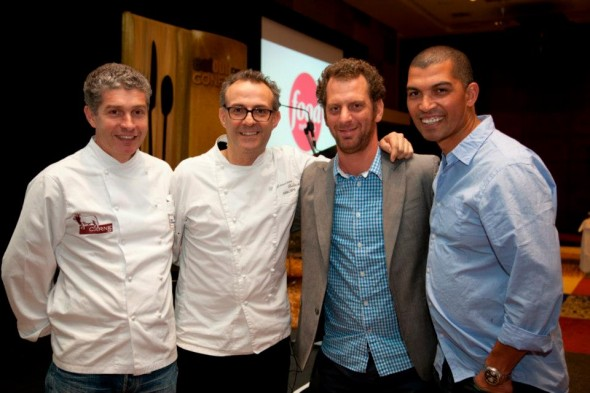 Giorgio Nava, Massimo Bottura, Luke Dale Roberts, Reuben Riffel - pic courtesy Eat Out
