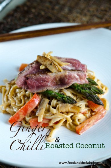 Seared Ribeye on Thai Red Curry Noodles