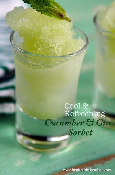 cucumber, gin and mint sorbet