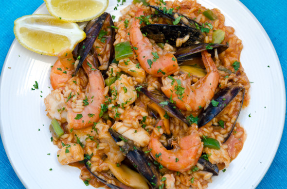 seafood rice from Portugal