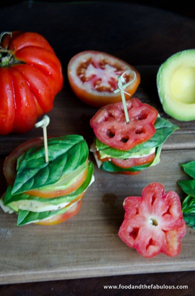 tomato caprese stacks