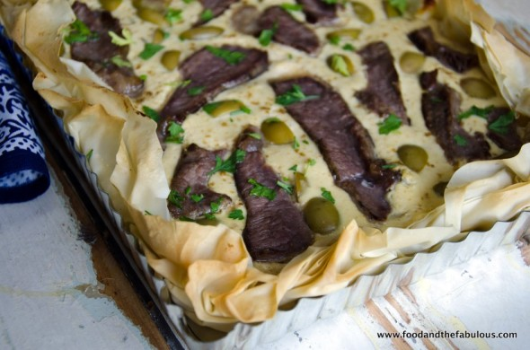 phyllo tart with caramelised onion