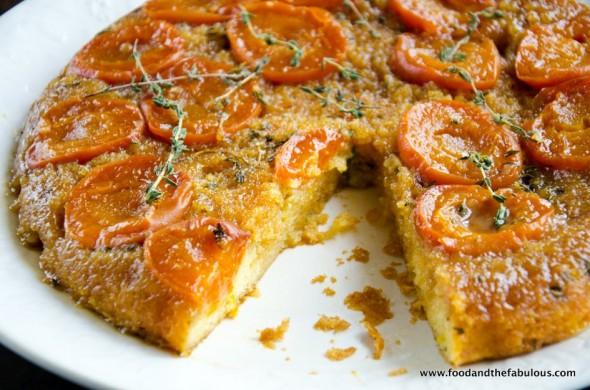 tart apricot caramel cake image
