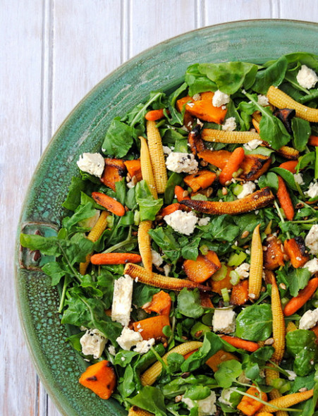 Jane Anne's butternut salad to feed a crowd, with permission