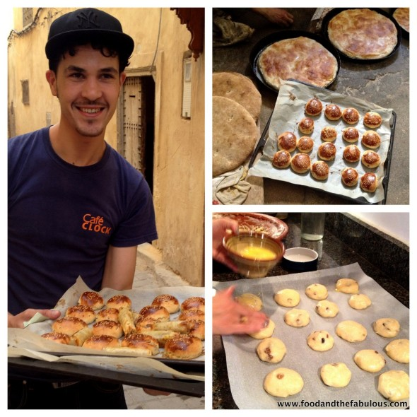 Super fun Mohamed with our tray of cookies from communal oven