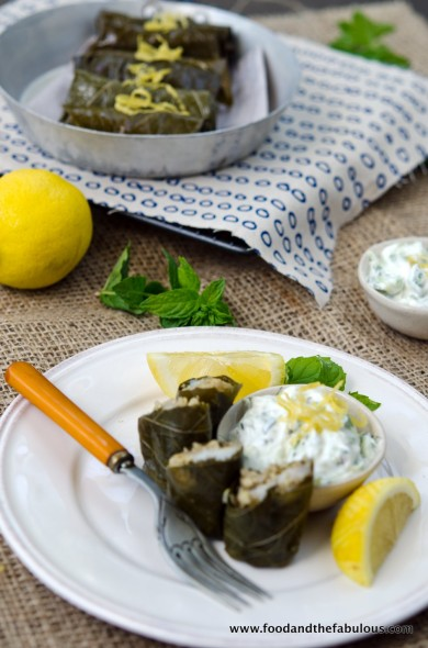 quinoa and fish dolmades