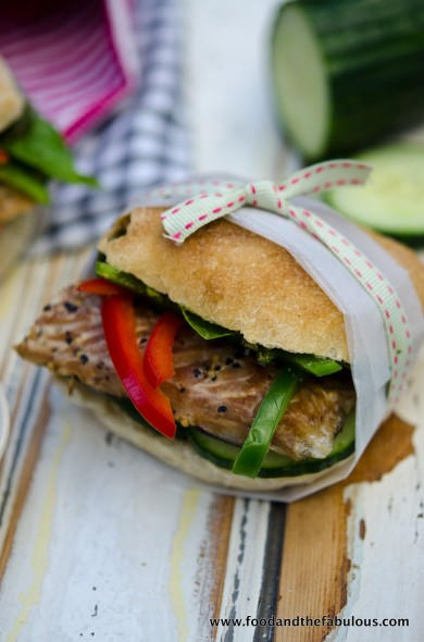 mackerel and basil pesto sandwich