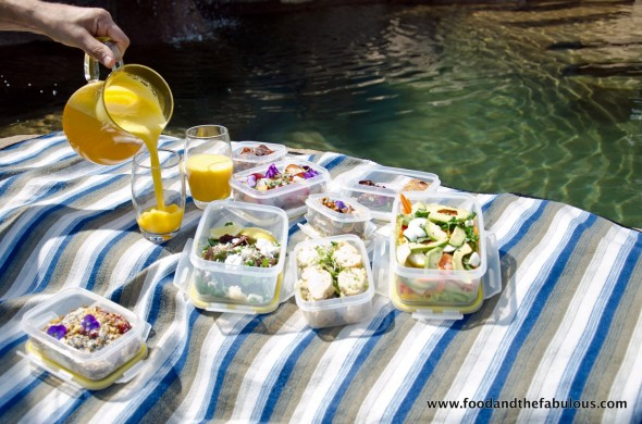 picnic by the pool