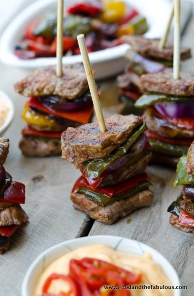beef and pepper stacks like doner kebab