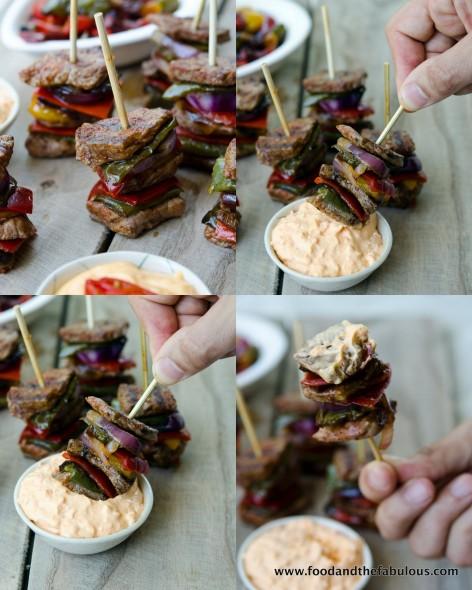 mini doner kebabs