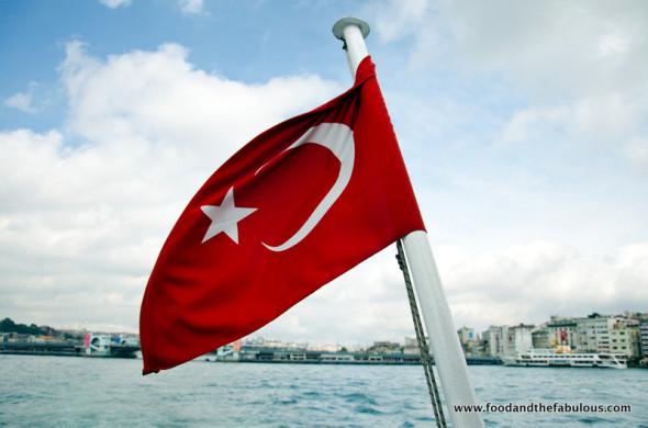Turkish flag on Bosphuros