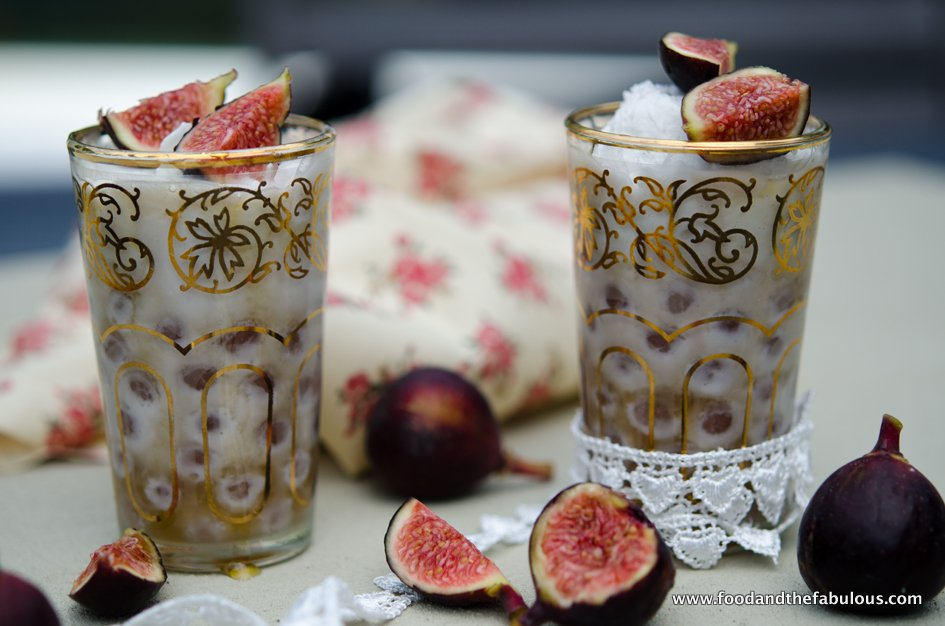 fig and coconut milk pudding