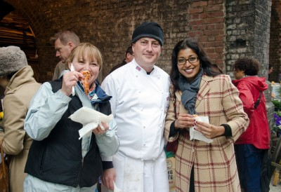 withh foodie friends, Maltby Street Market, London