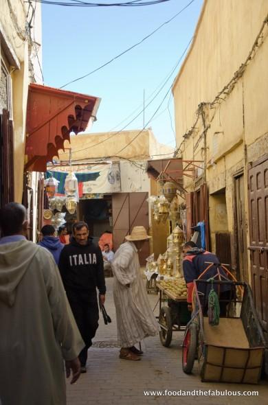 market scene Fez