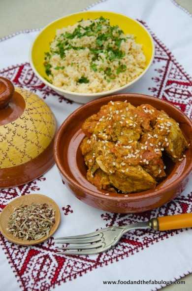 chicken tagine with sesame seeds