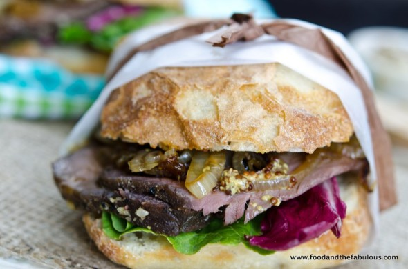 Roast beef picnic sarmie - click for recipe