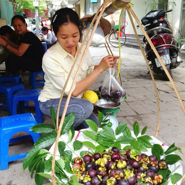 mangosteen seller