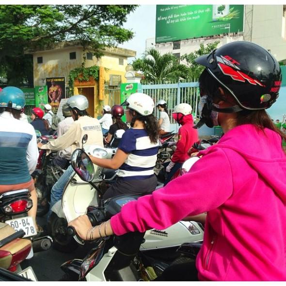 saigon morning traffic