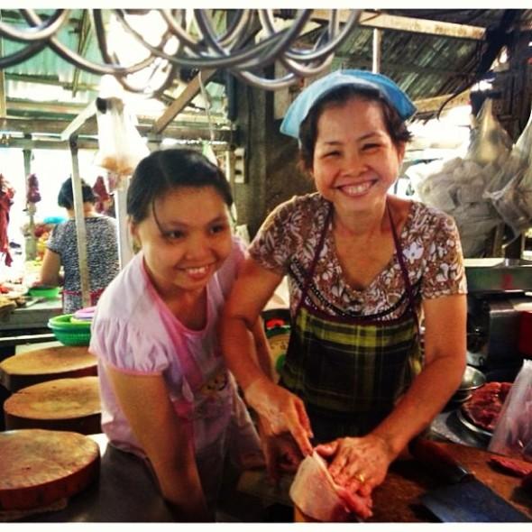 butchers at the market, saigon