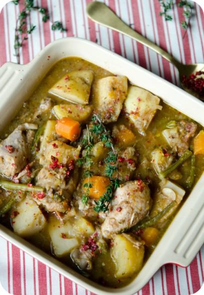 pink peppercorn chicken stew