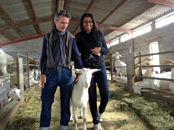 Philippe Goninet, goat and I
