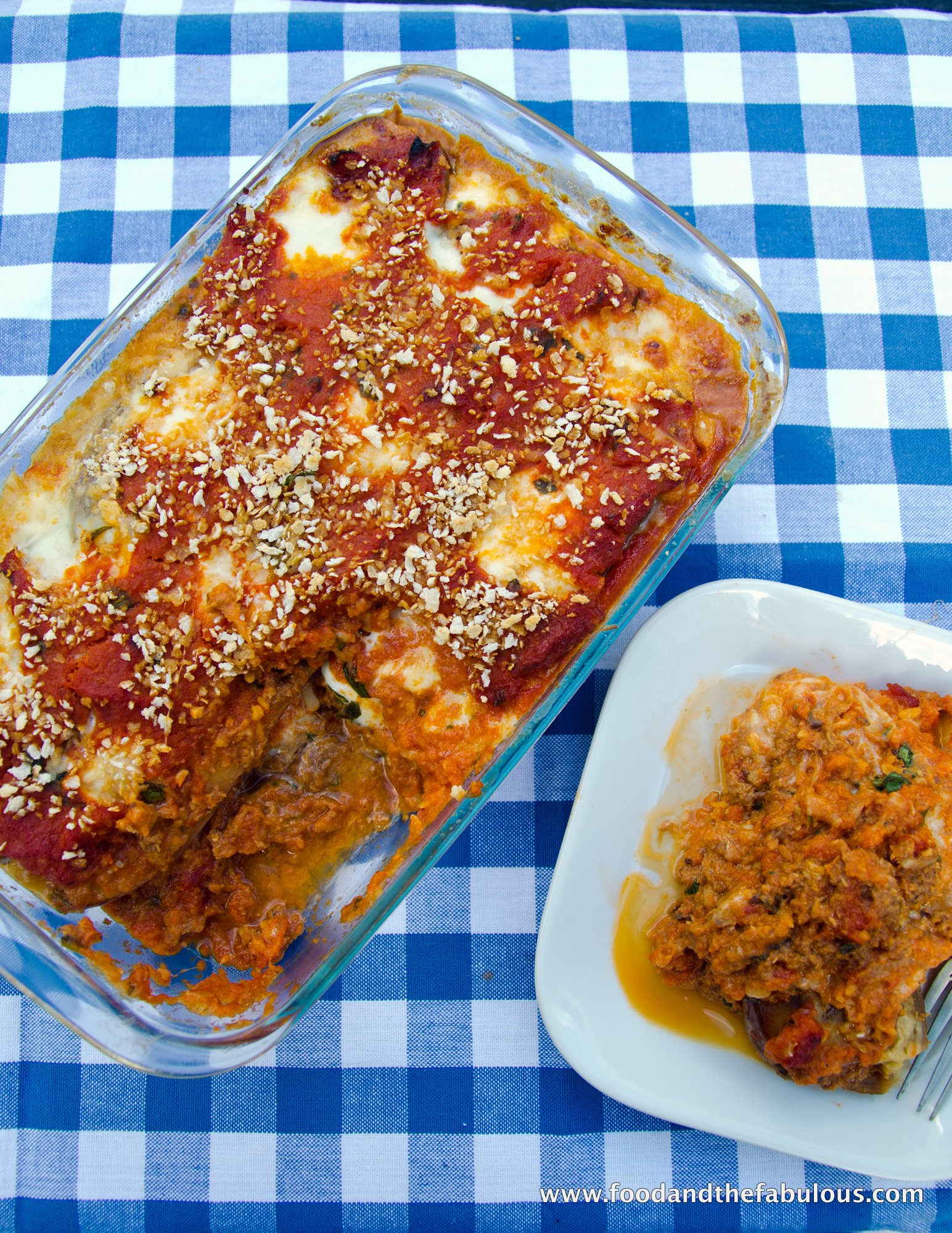 Melazane Parmigiana with Fish