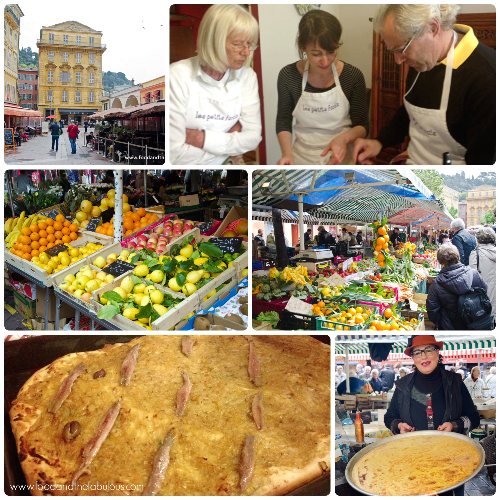 Scenes from the market in Nice and the cooking class with Rosa Jackson
