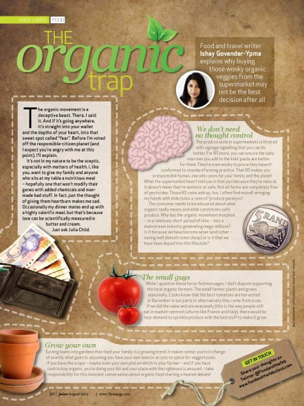 Organic eating - mango inflight magazine