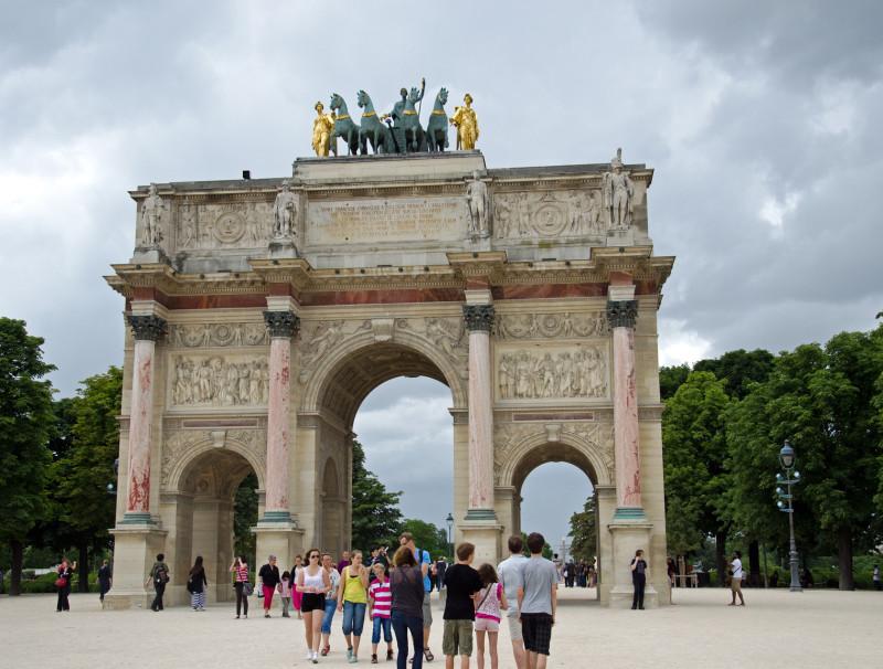 Arc de Triomphe du Carrousel - opp the Louvre