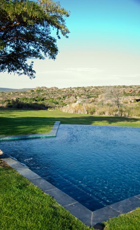 pool side view bushmans kloof