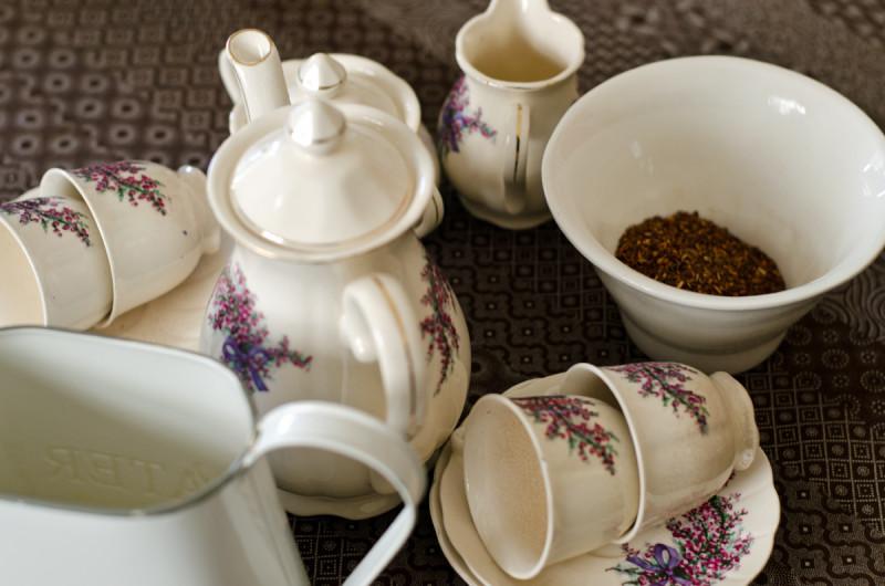tea set ready for tasting