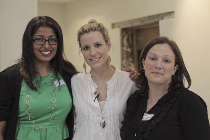 Ishay with Vanessa, chef at Dear Me and Adri Williams (L-R) Image Jon Meinking