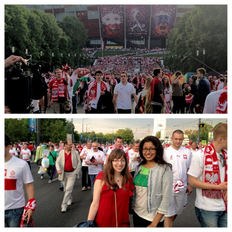 Instagram image - outisde the opening game Euro champs 2012 in Warsaw www.foodandthefabulous.com