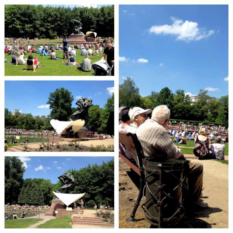 Scenes from Royal Park - Chopin concerts on a Sunday in Warsaw Instagram images www.foodandthefabulous.com