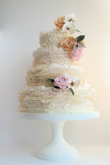cake by Maggie Austin. Dress up the Vanilla cake anyway you see fit