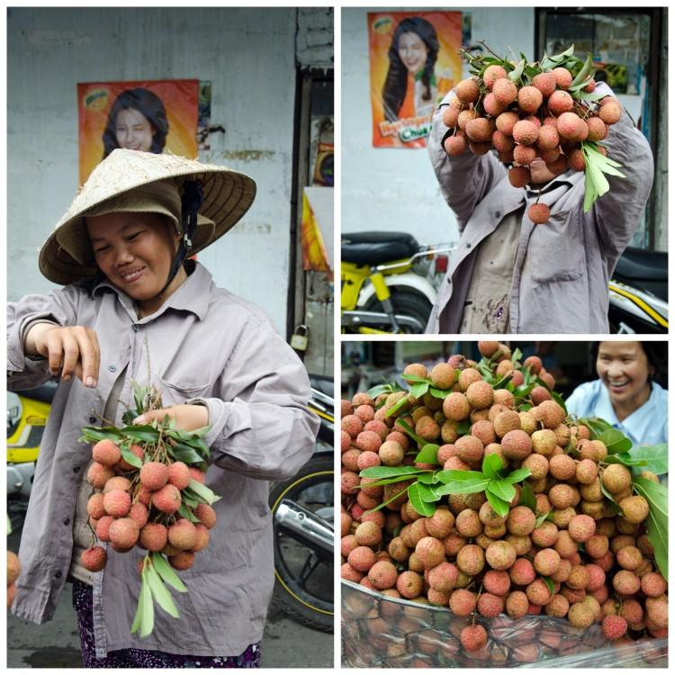 Litchi seller Thi Nighe market. www.foodandthefabulous.com