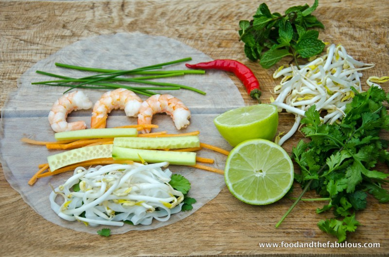 Fresh Spring roll ingredients
