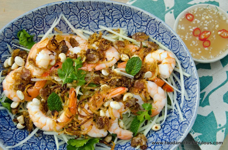 green papaya Vietnamese salad