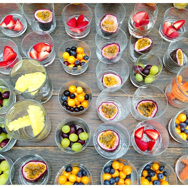 Breakfast fruit display