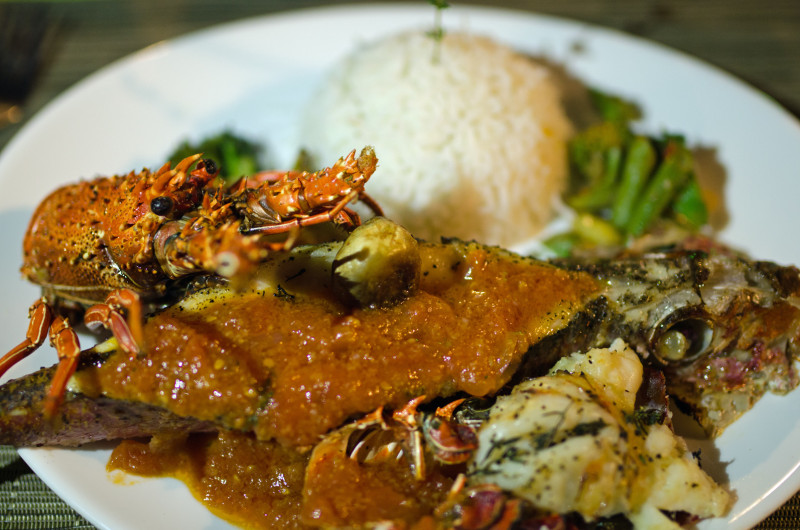 Mauritian seafood with Creole flair