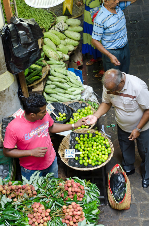 market transactions, Port Louis, Mauritius