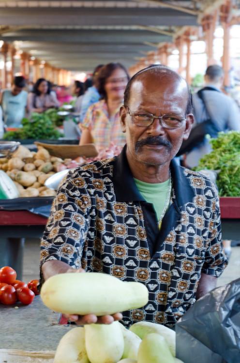 pumpkin seller Flacq market