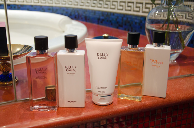 bathroom amenities, some of them