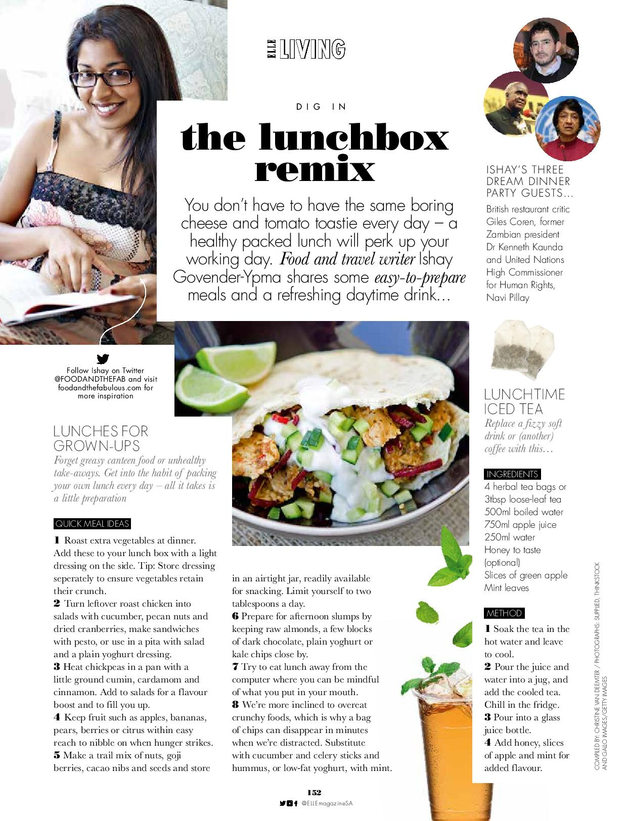 Lunch box treats for elle sa food and the fabulous for Articles cuisine
