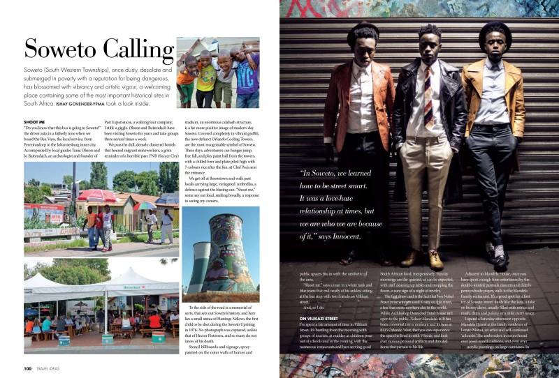 Soweto for Travel Ideas magazine