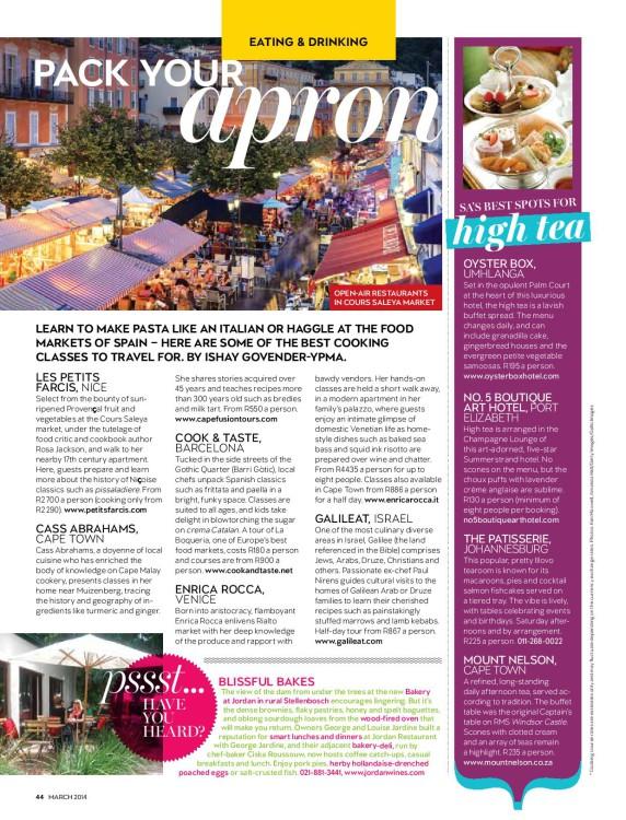 cooking classes getaway magazine
